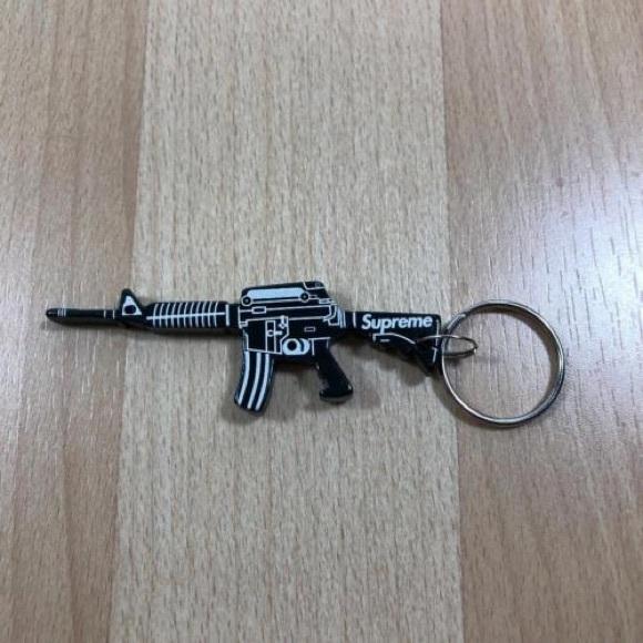 Supreme Black Gun Bottle Opener Keychain M16